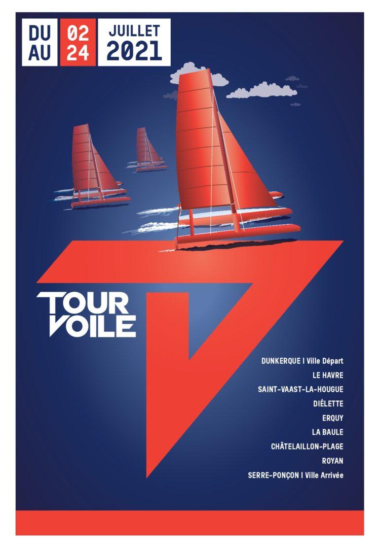 Affiche Tour Voile 2021